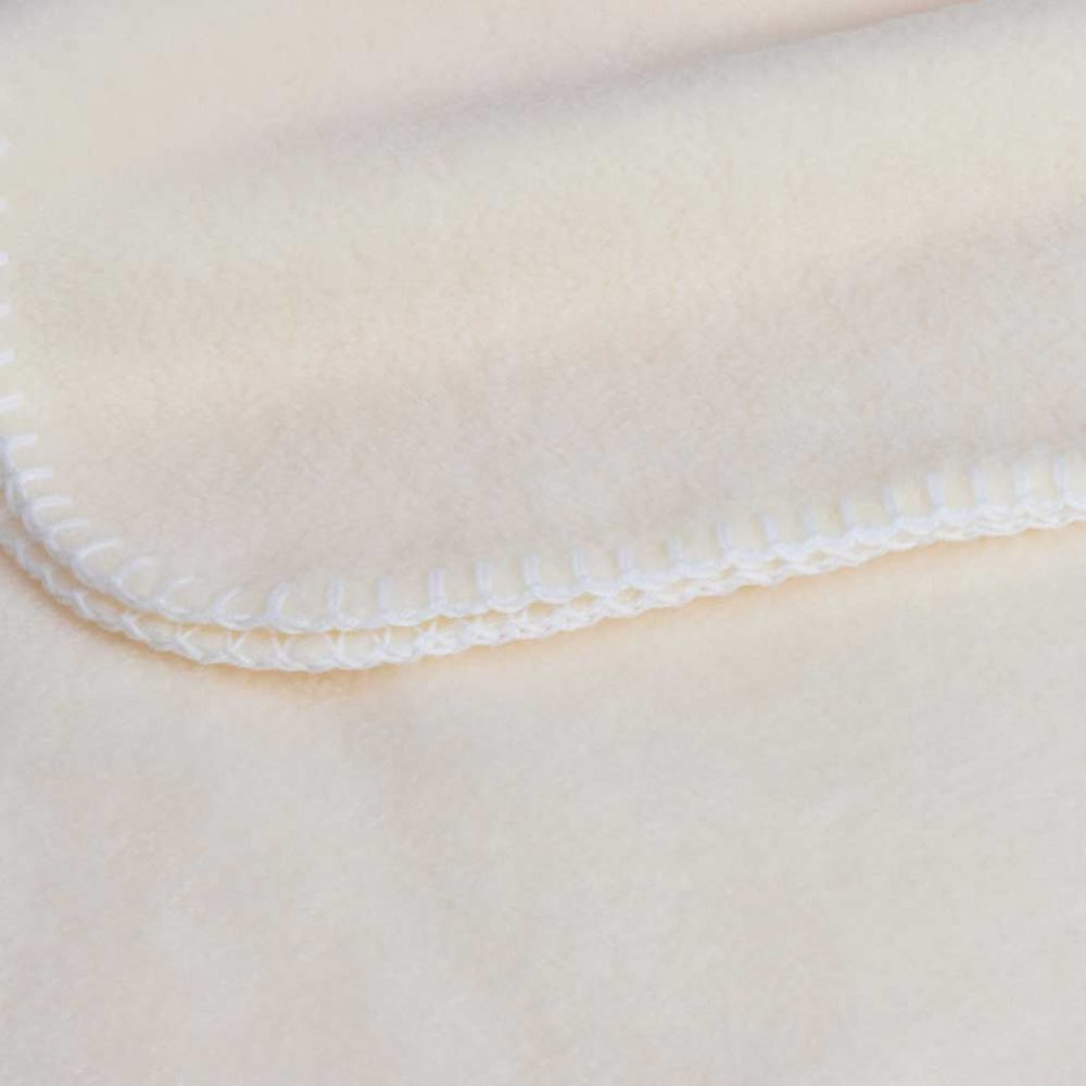 Baby Lap Blanket: Cream