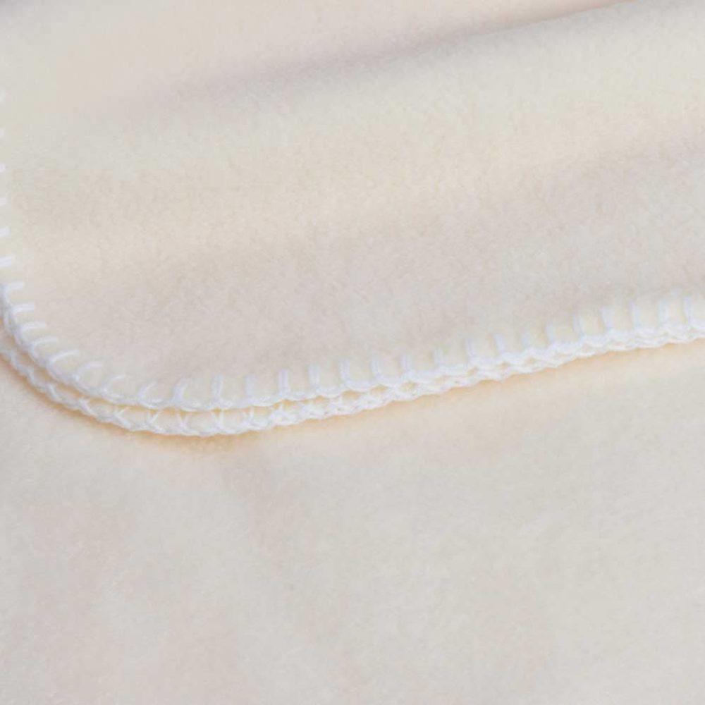 Baby Lap Blanket: Cream