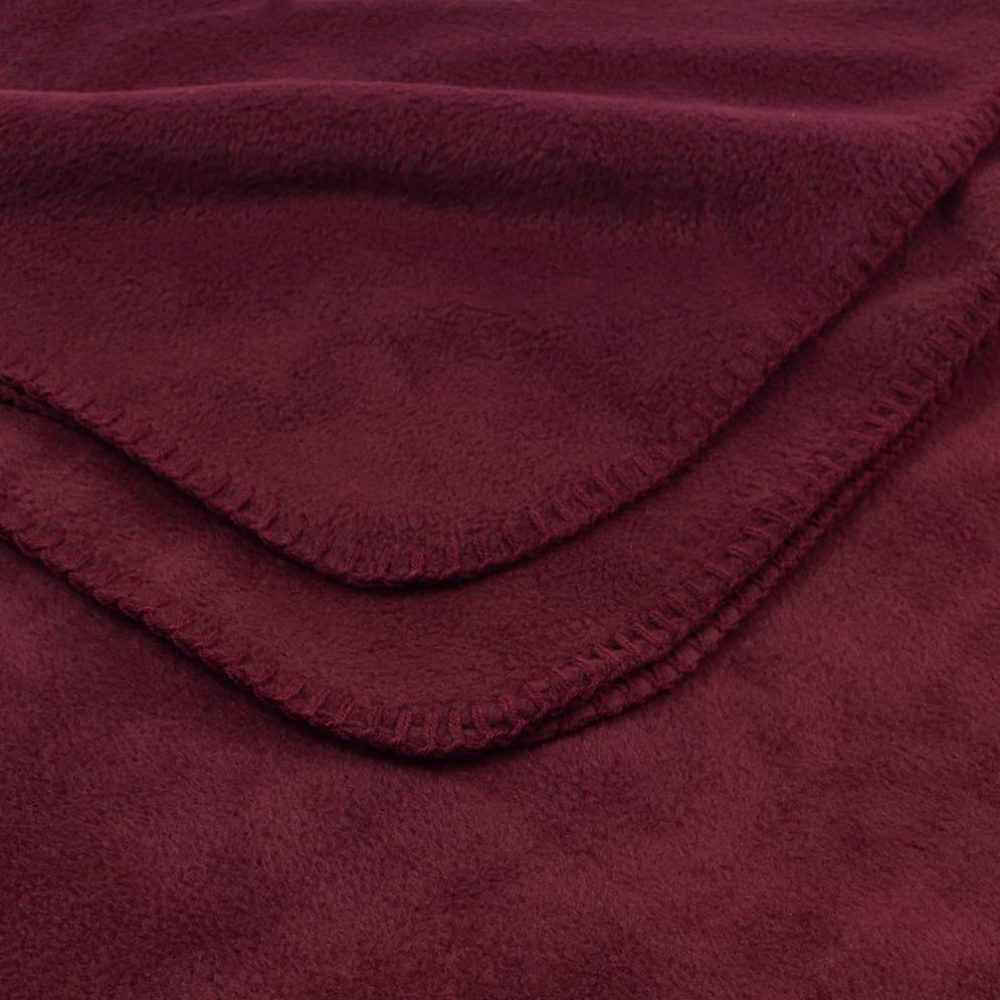 Deluxe Fleece Blanket: Burgundy