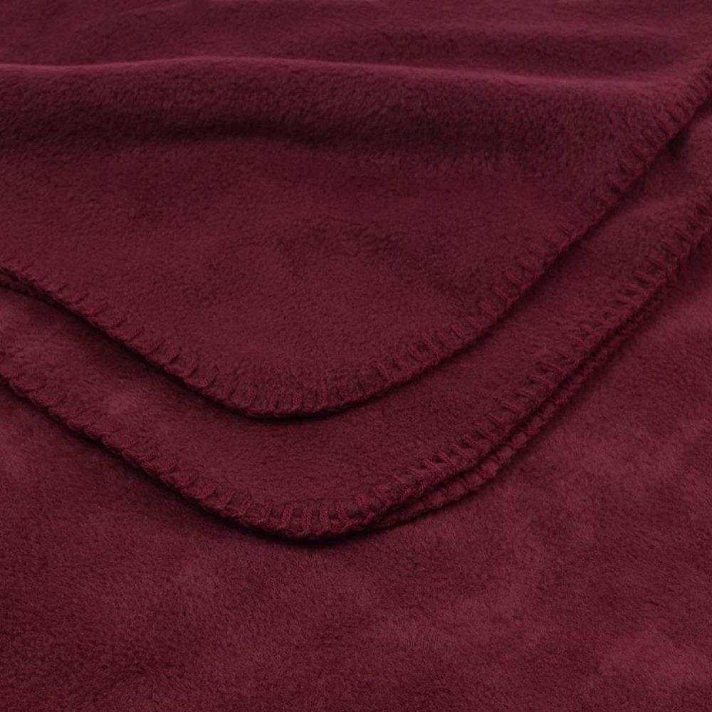 Deluxe Fleece Blanket: Burgundy
