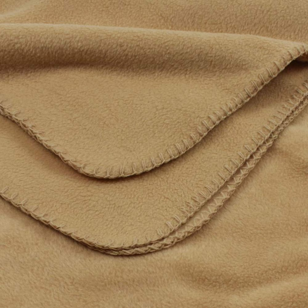 Deluxe Fleece Blanket: Camel