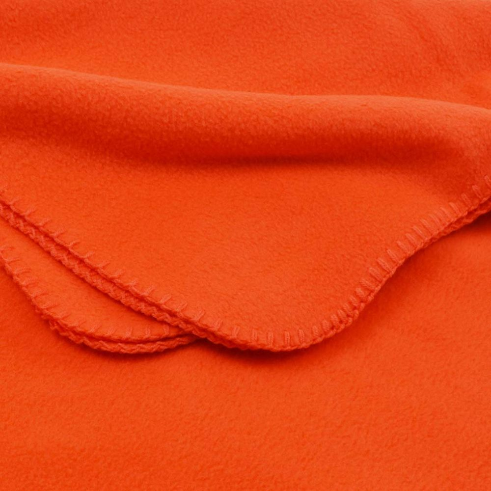 Deluxe Fleece Blanket: Orange