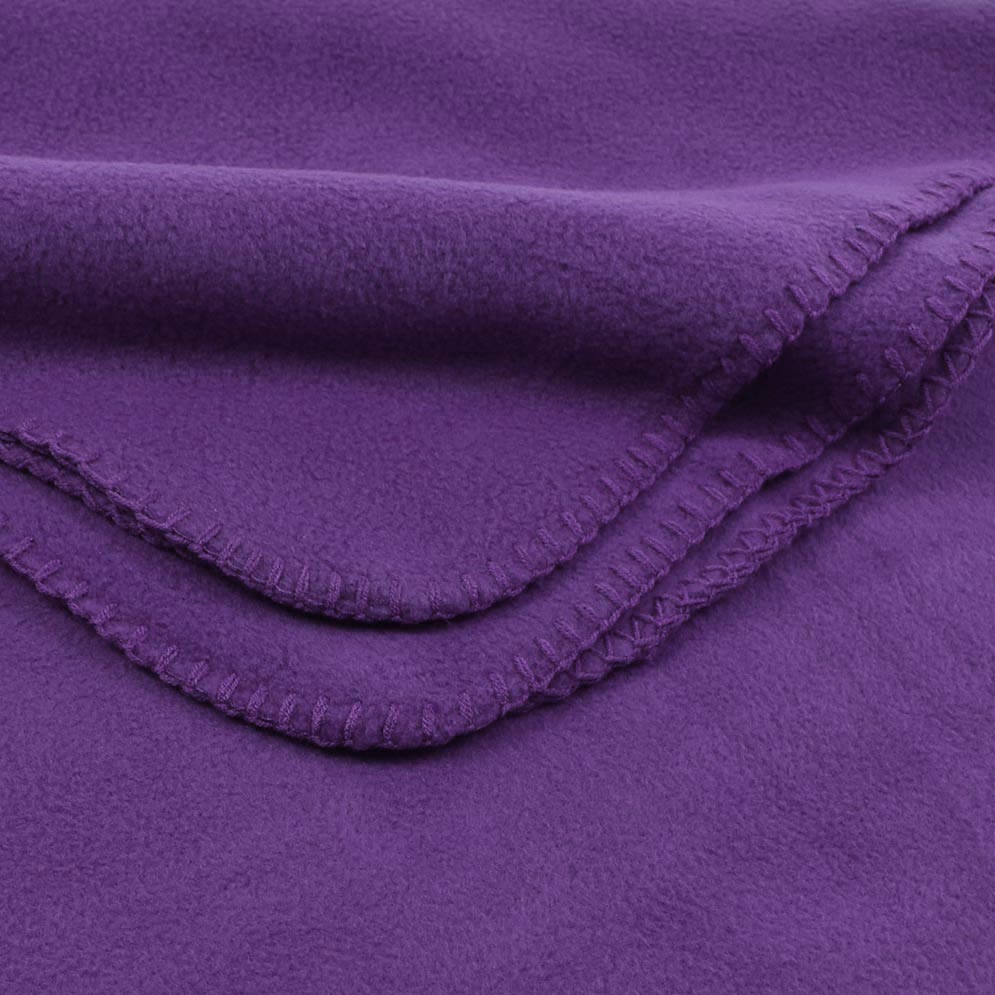 Deluxe Fleece Blanket: Purple