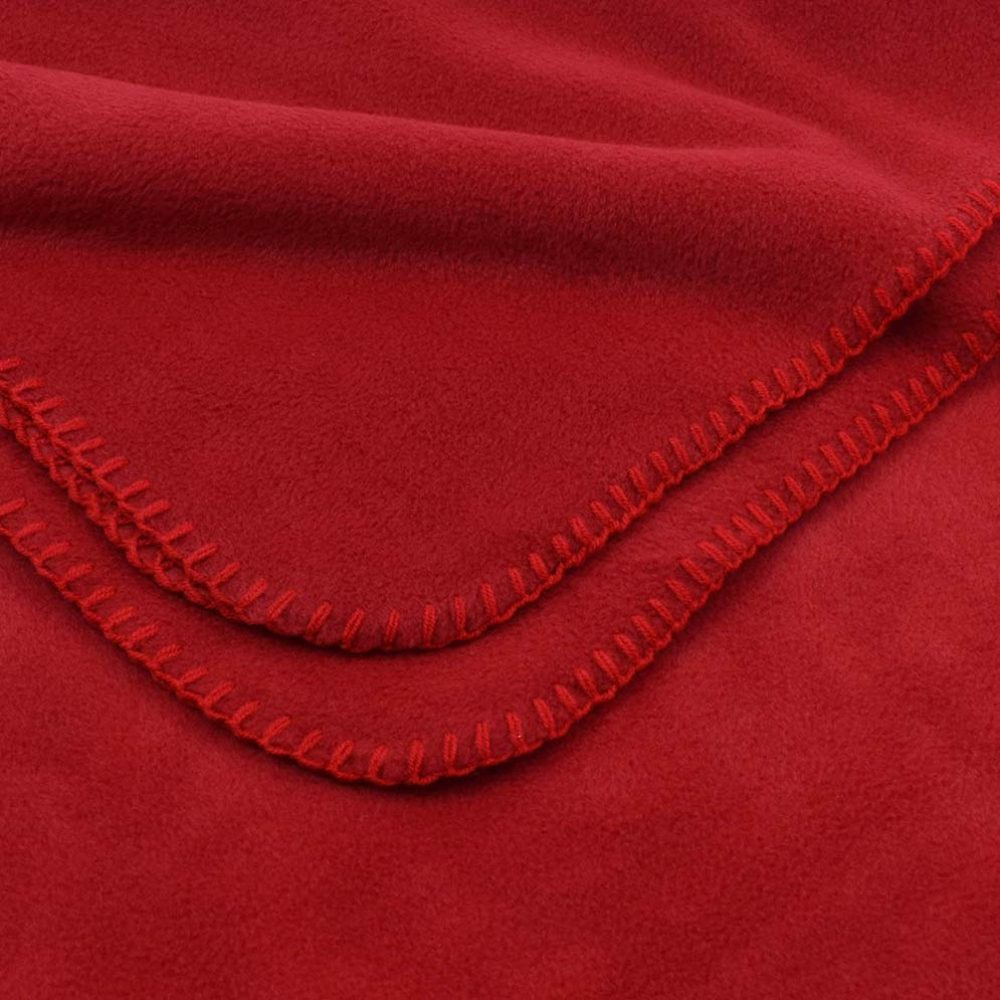 Deluxe Fleece Blanket: Red