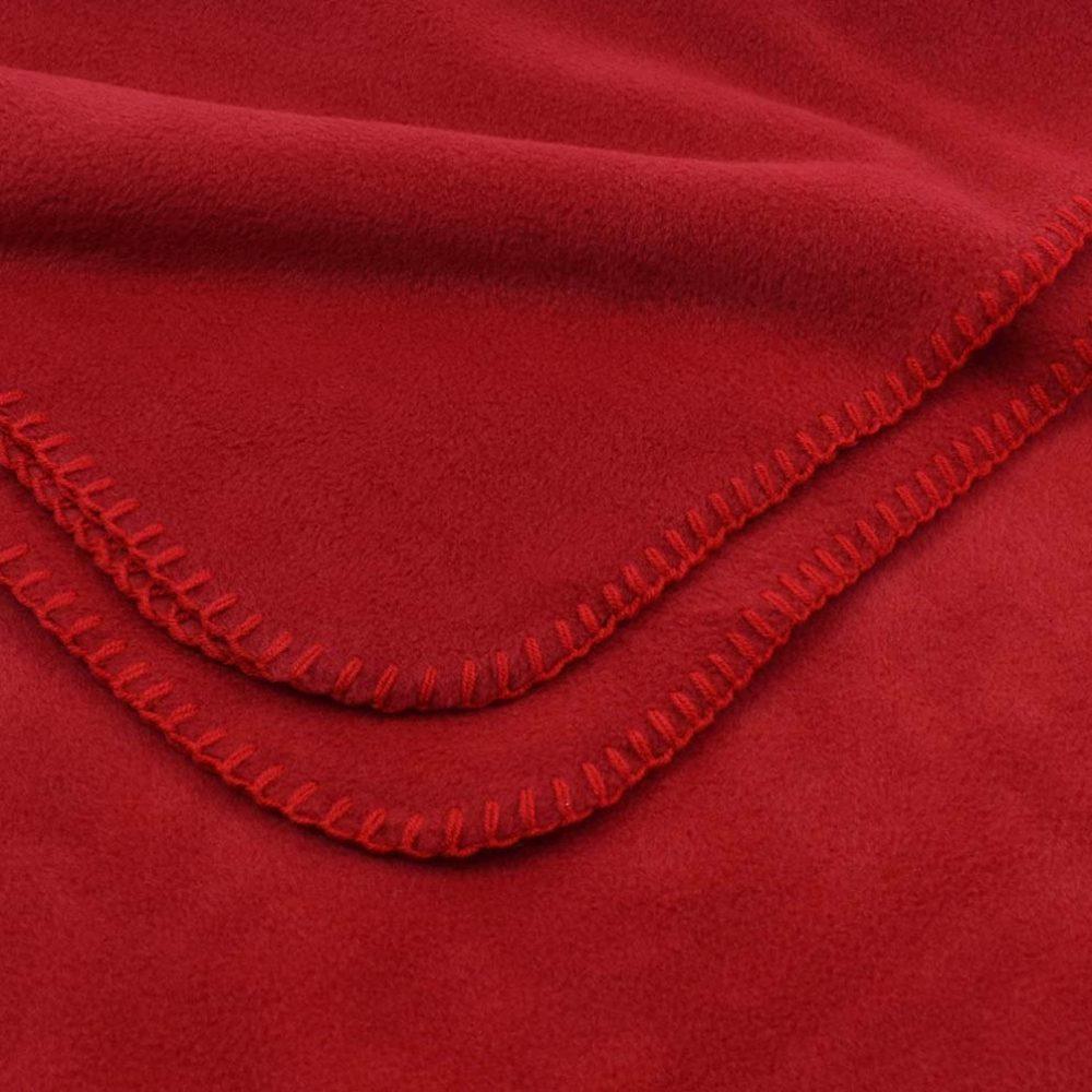 Deluxe Fleece Blanket: Red