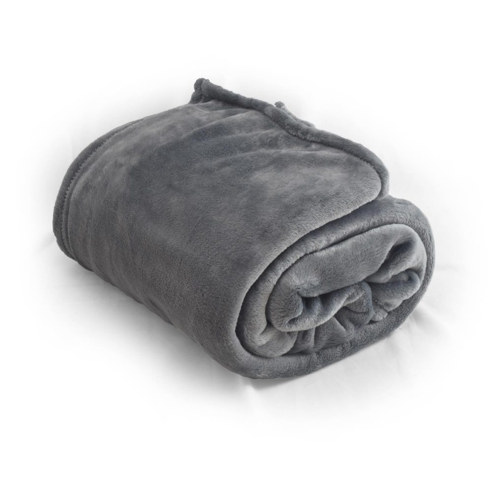 Cinder Mink Touch Throw Blanket