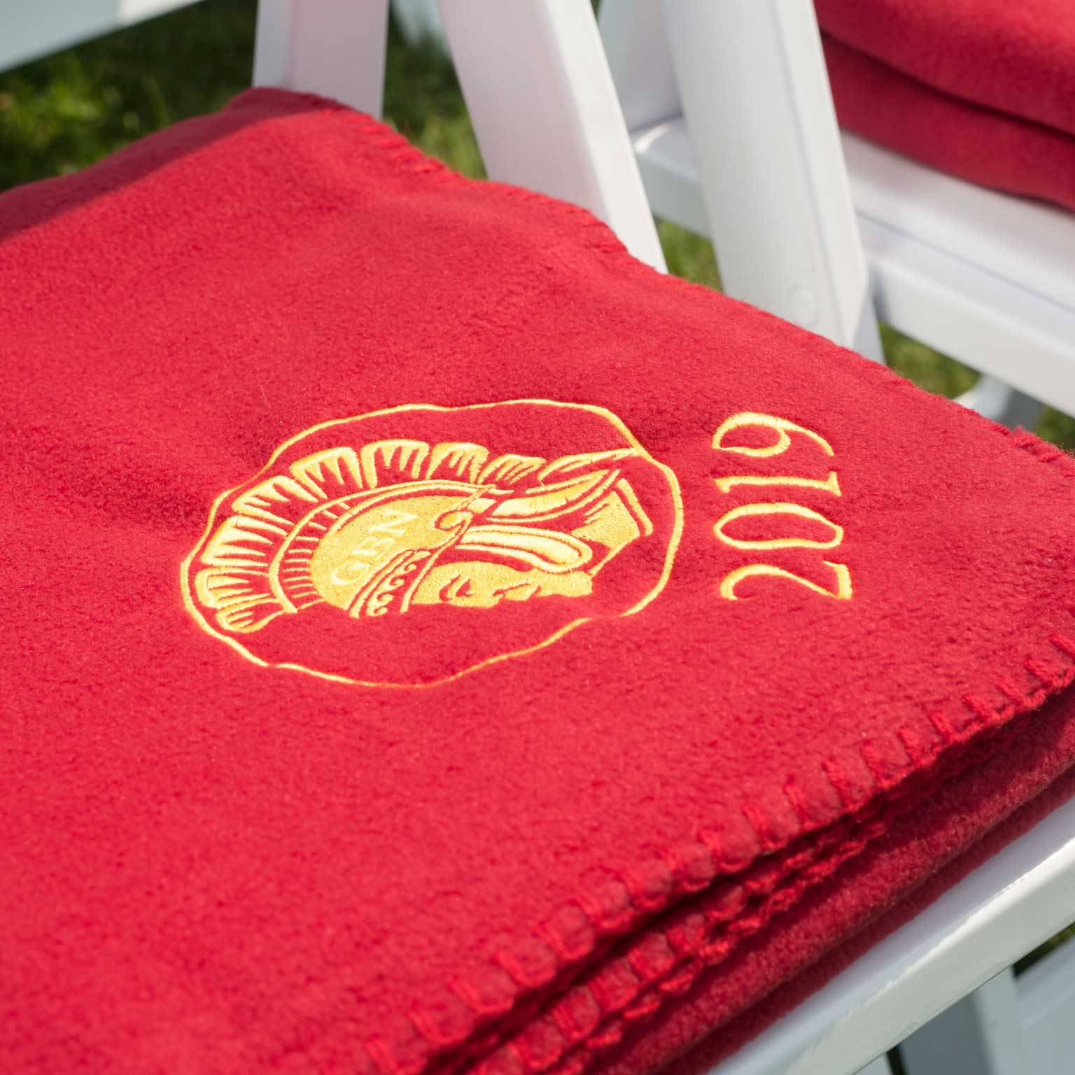 Deluxe Fleece Throw with Embroidery: Schools and Graduation
