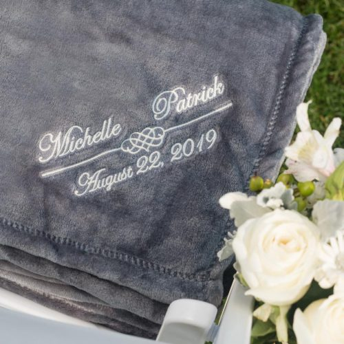 Mink Touch Fleece Blanket Embroidered: Cinder