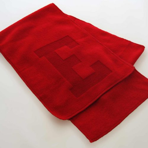 Placeholder Fleece Scarf with Laser Etch