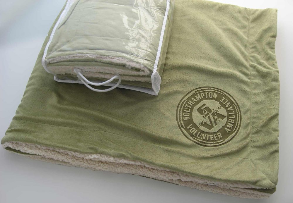 Sherpa Blanket with Laser Etch