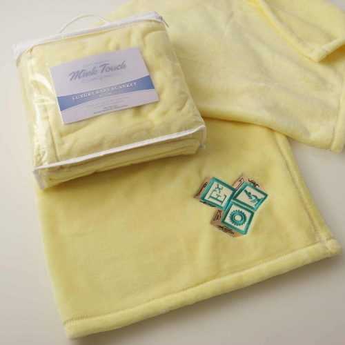 Cloud Mink Touch Baby Blanket with Embroidery