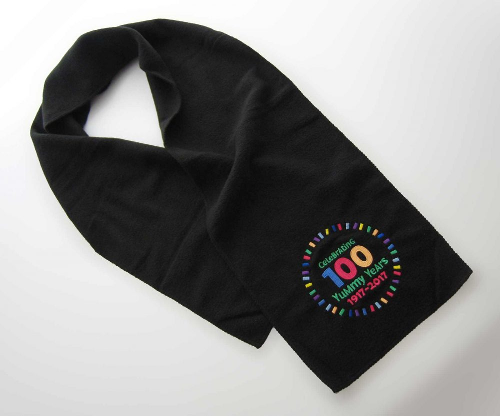 Fleece Scarf with Embroidery