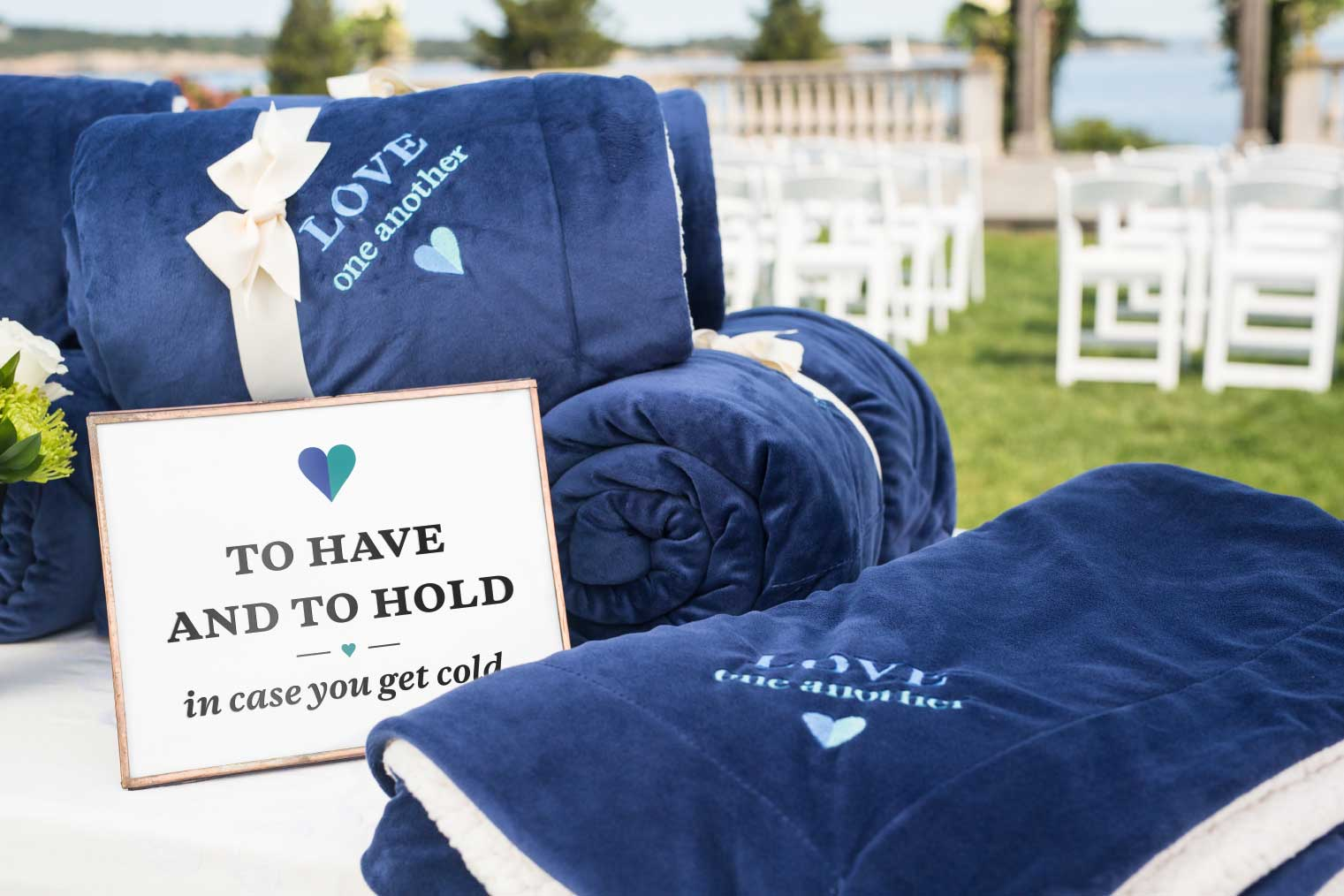 Beautiful wedding blankets for every budget