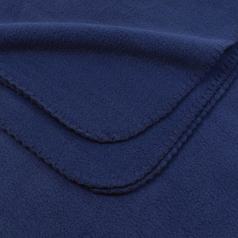 Deluxe Fleece Blanket: Navy