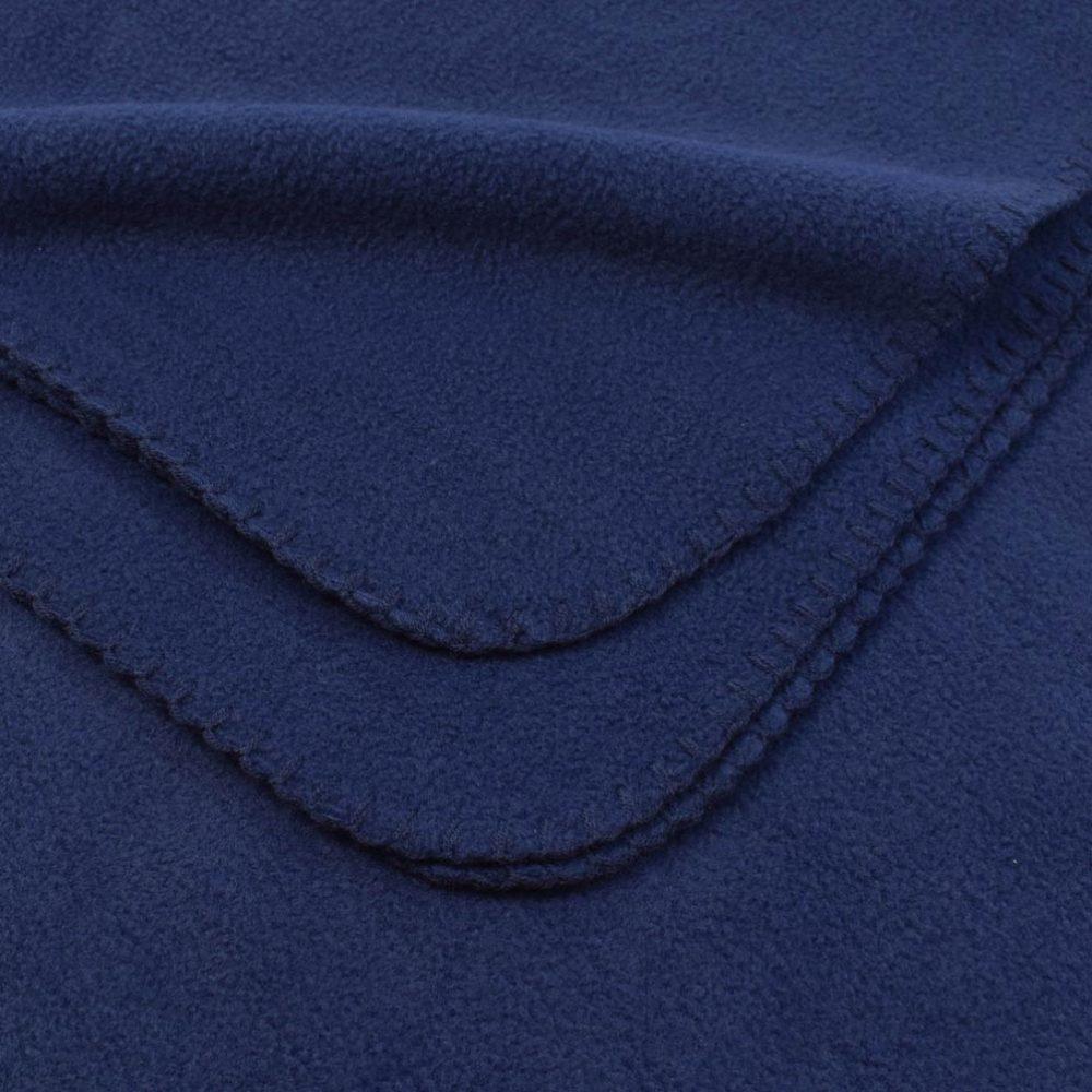 Deluxe Fleece Blanket: Navy
