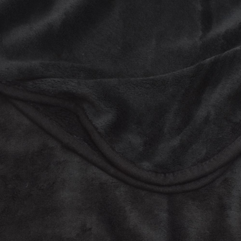 Coral Fleece Blanket: Black
