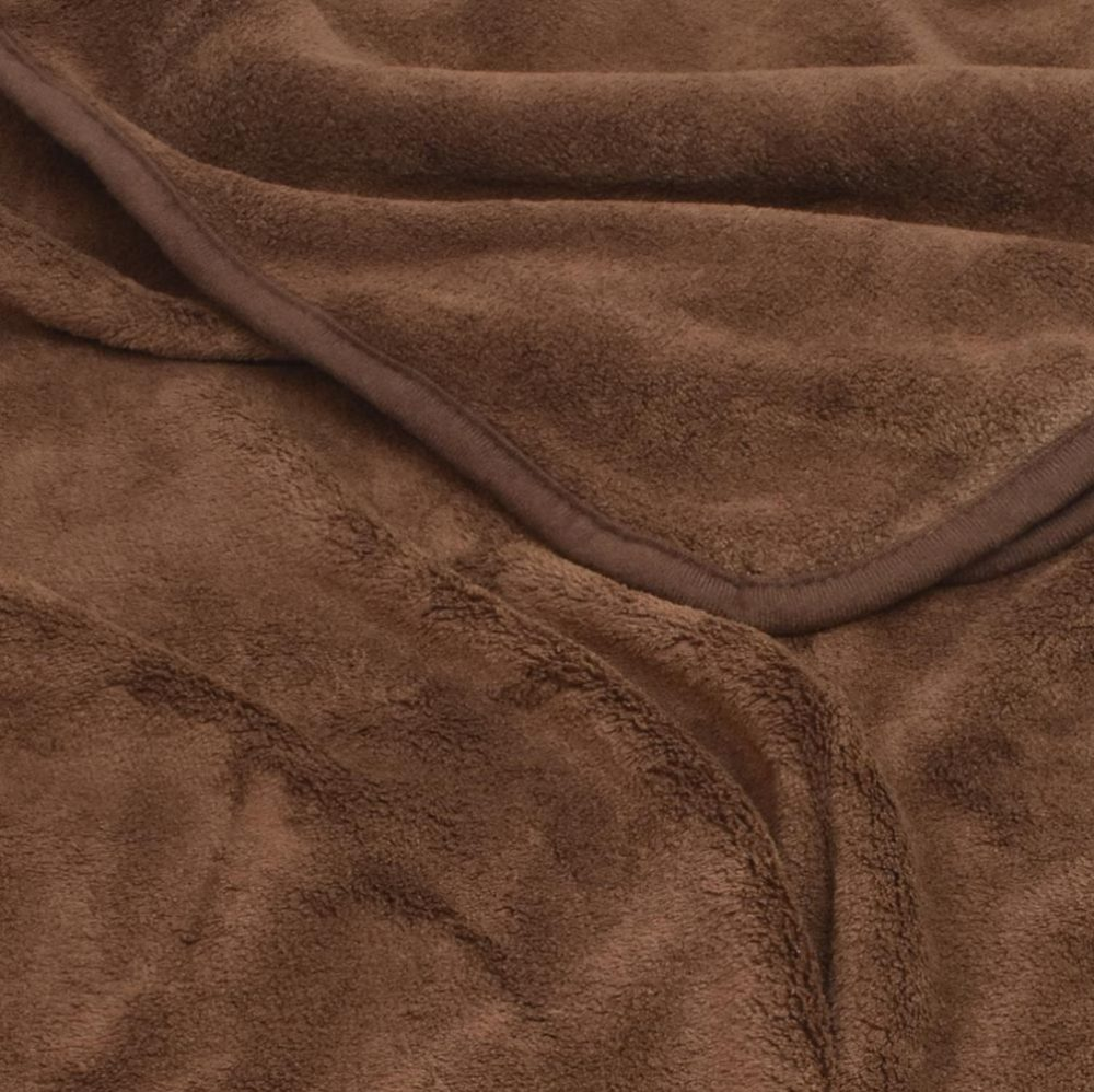 Coral Fleece Blanket: Chocolate
