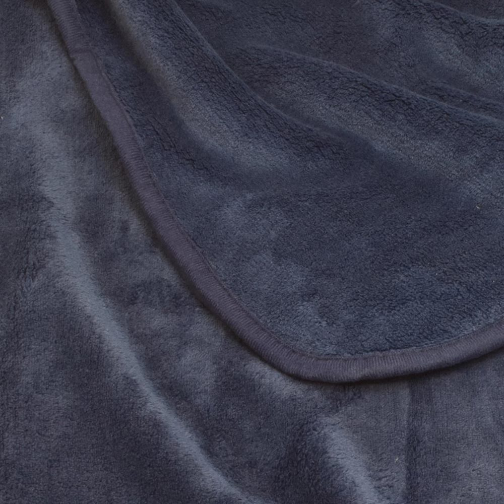 Coral Fleece Blanket: Navy