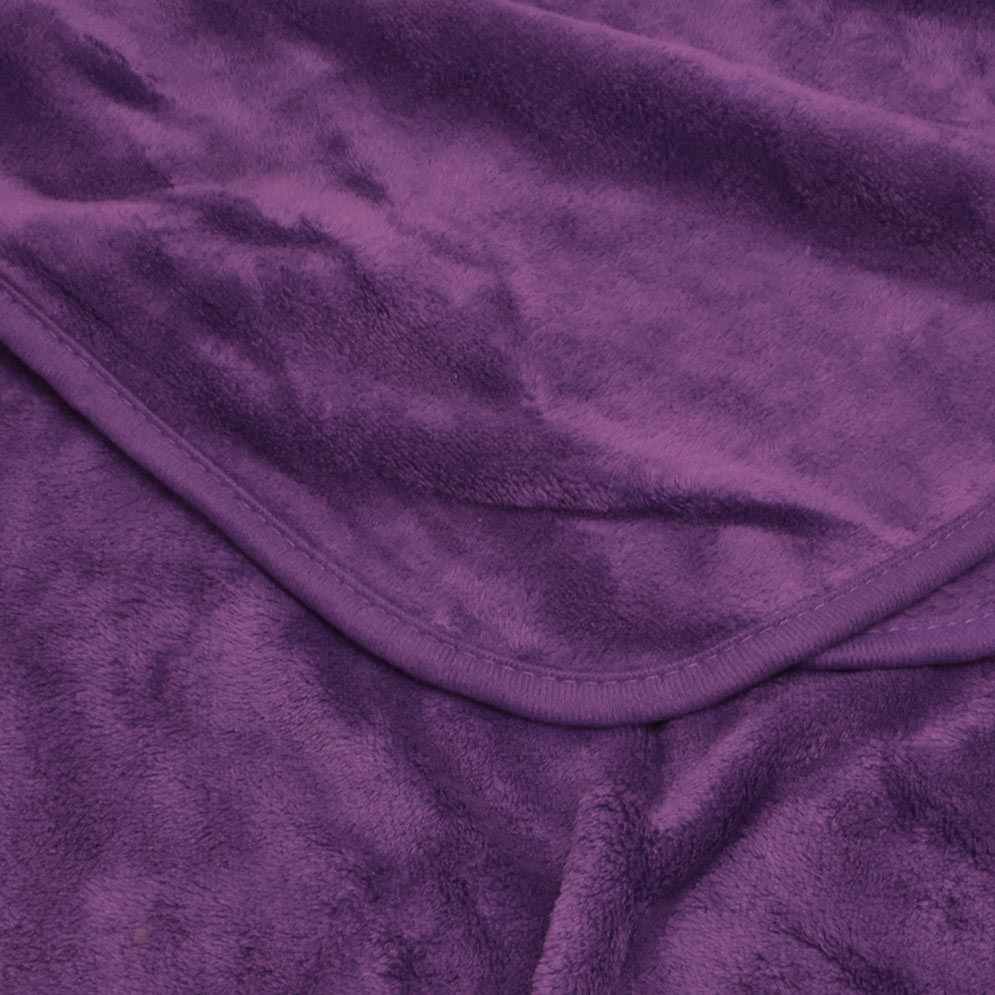 Coral Fleece Blanket: Purple