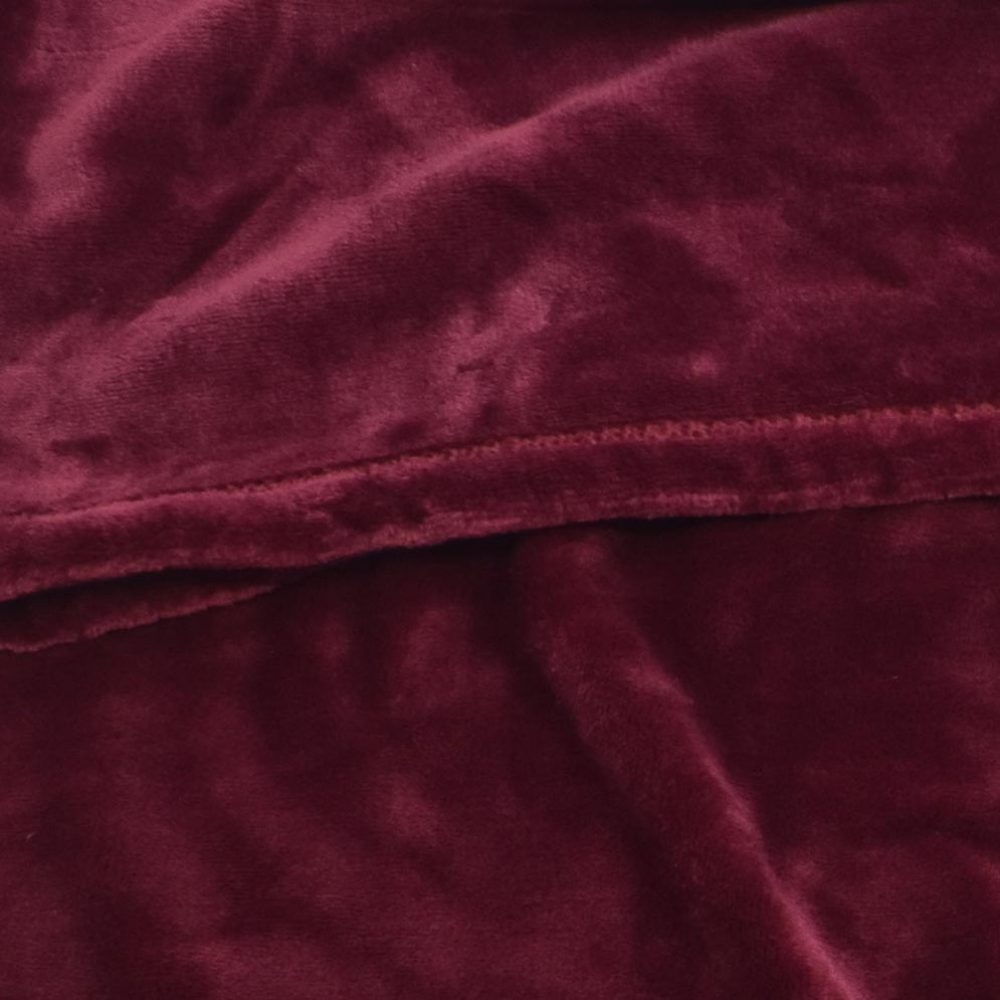 Mink Touch Fleece Blanket: Burgundy