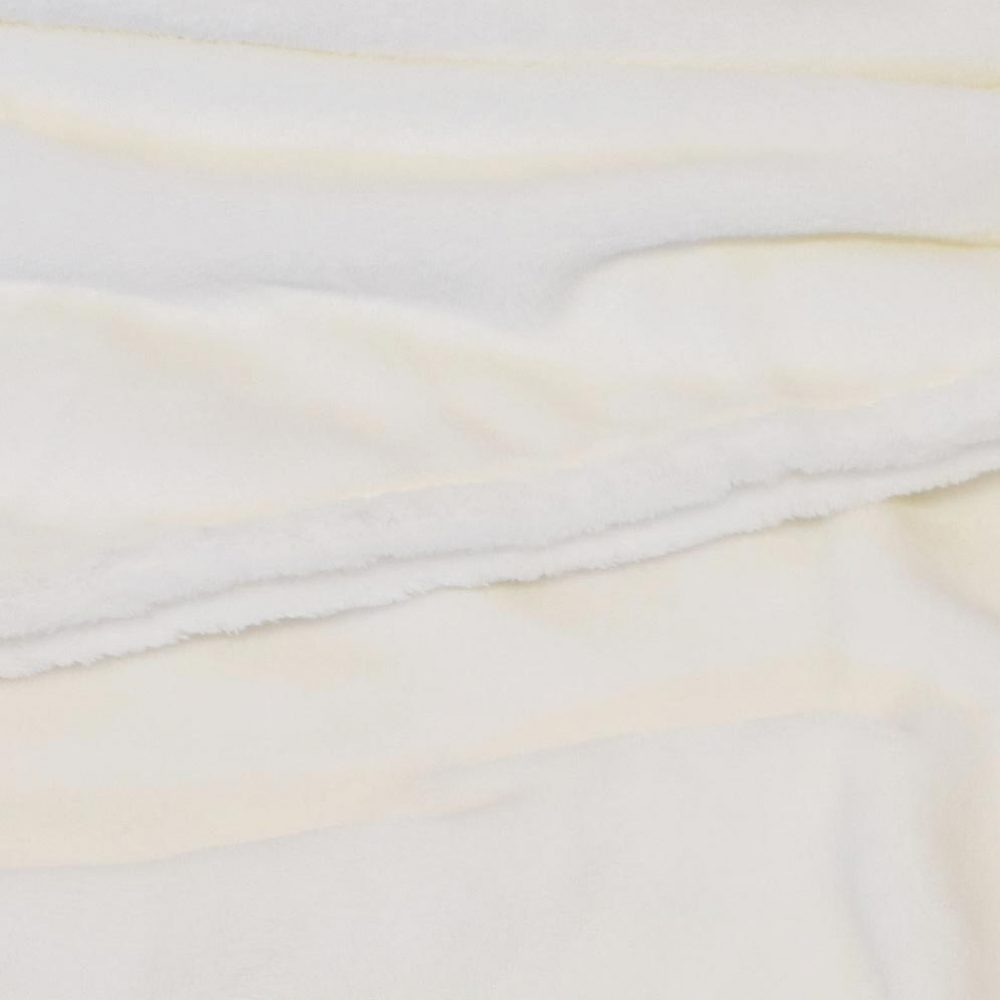 Mink Touch Fleece Blanket: Cream