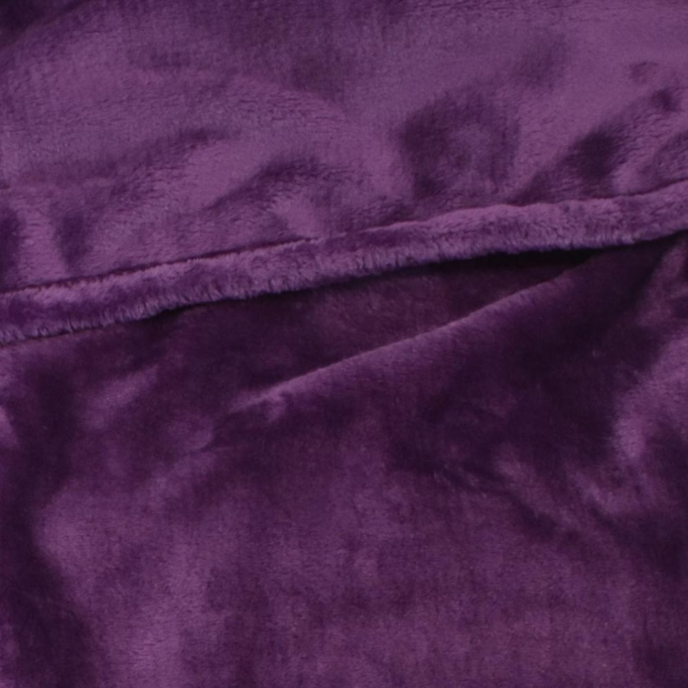 Mink Touch Fleece Blanket: Plum