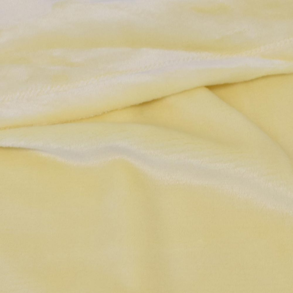 Mink Touch Fleece Baby Blanket: Yellow
