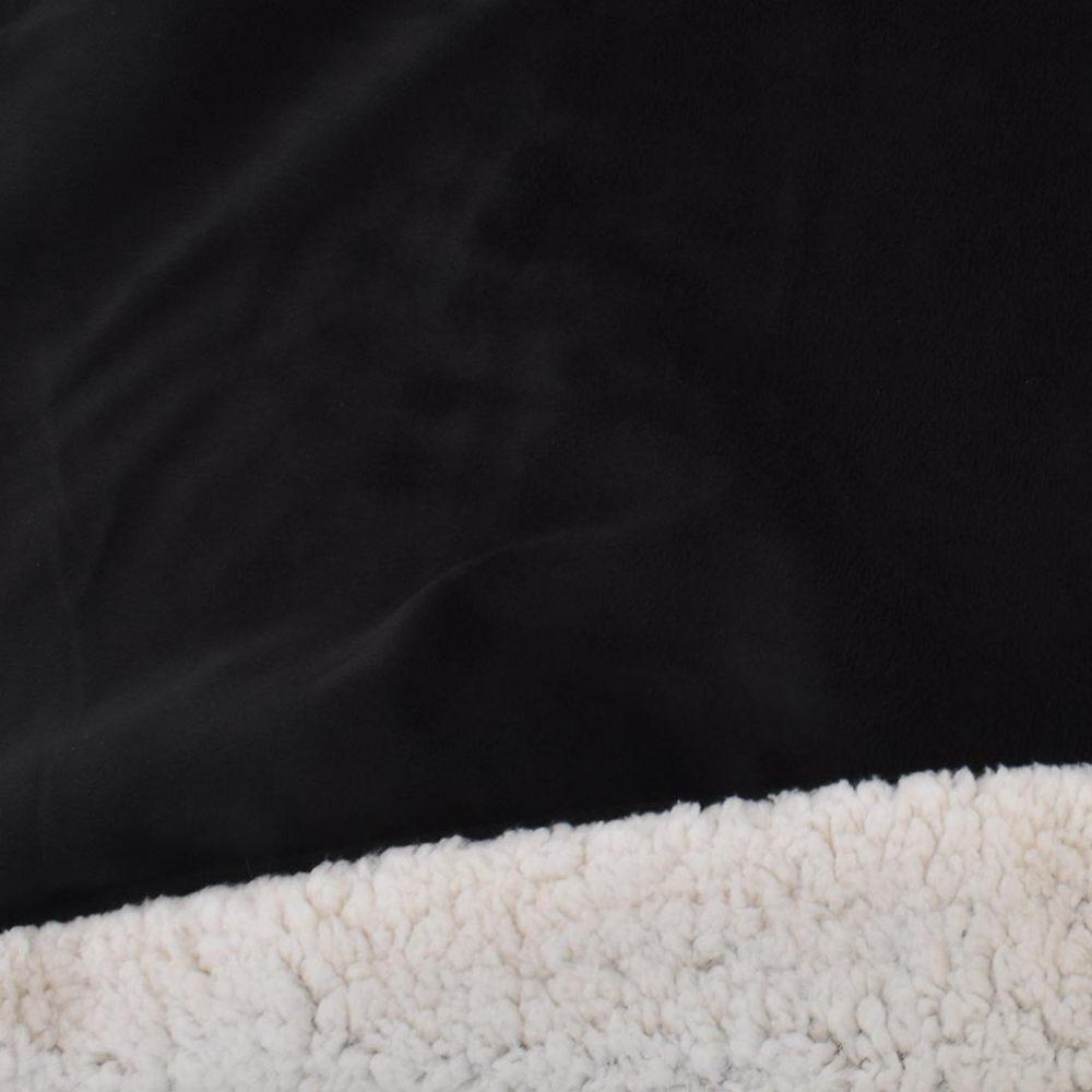 Sherpa Fleece Blanket: Black