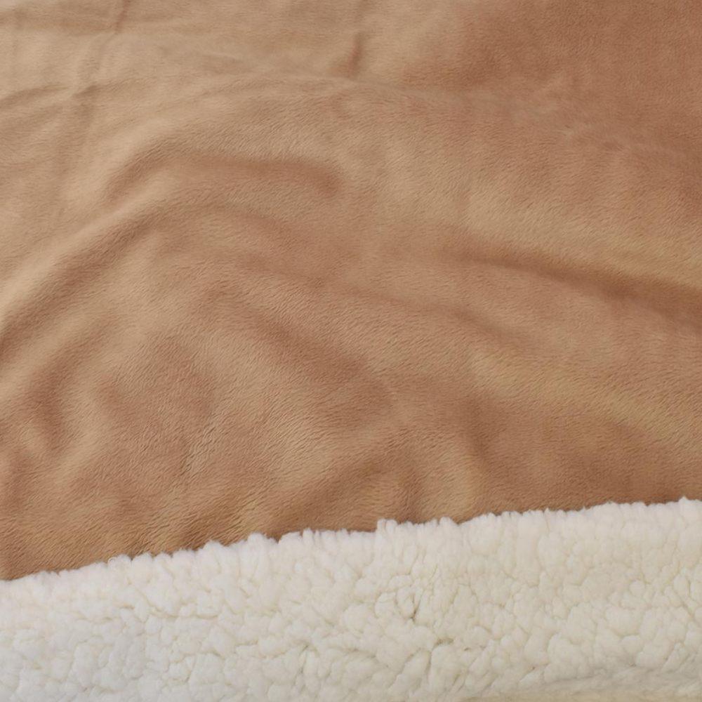 Sherpa Fleece Blanket: Camel