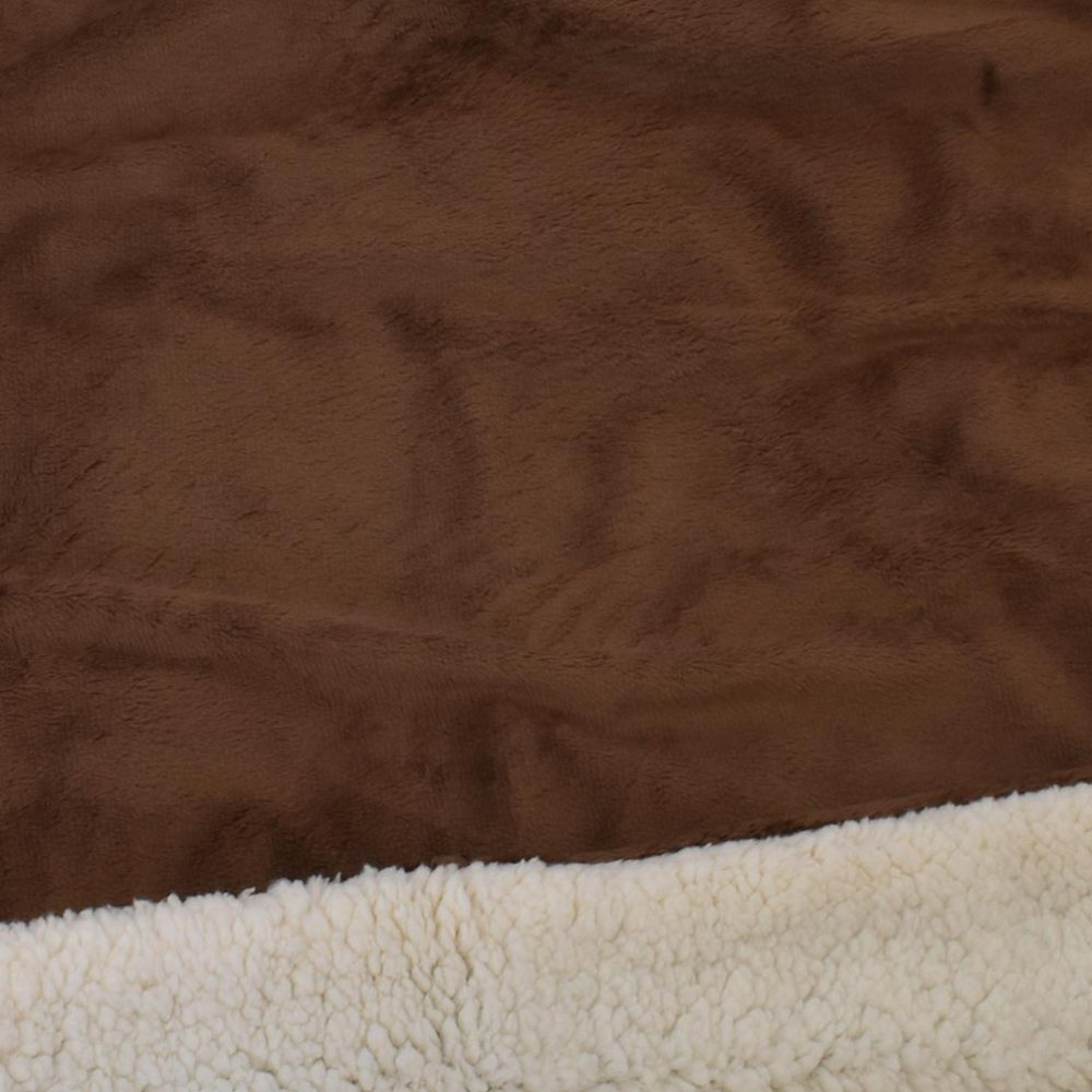 Sherpa Fleece Blanket: Chocolate