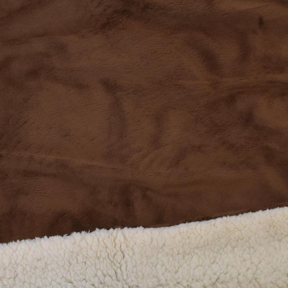 Sherpa Fleece Blanket: Chocolate
