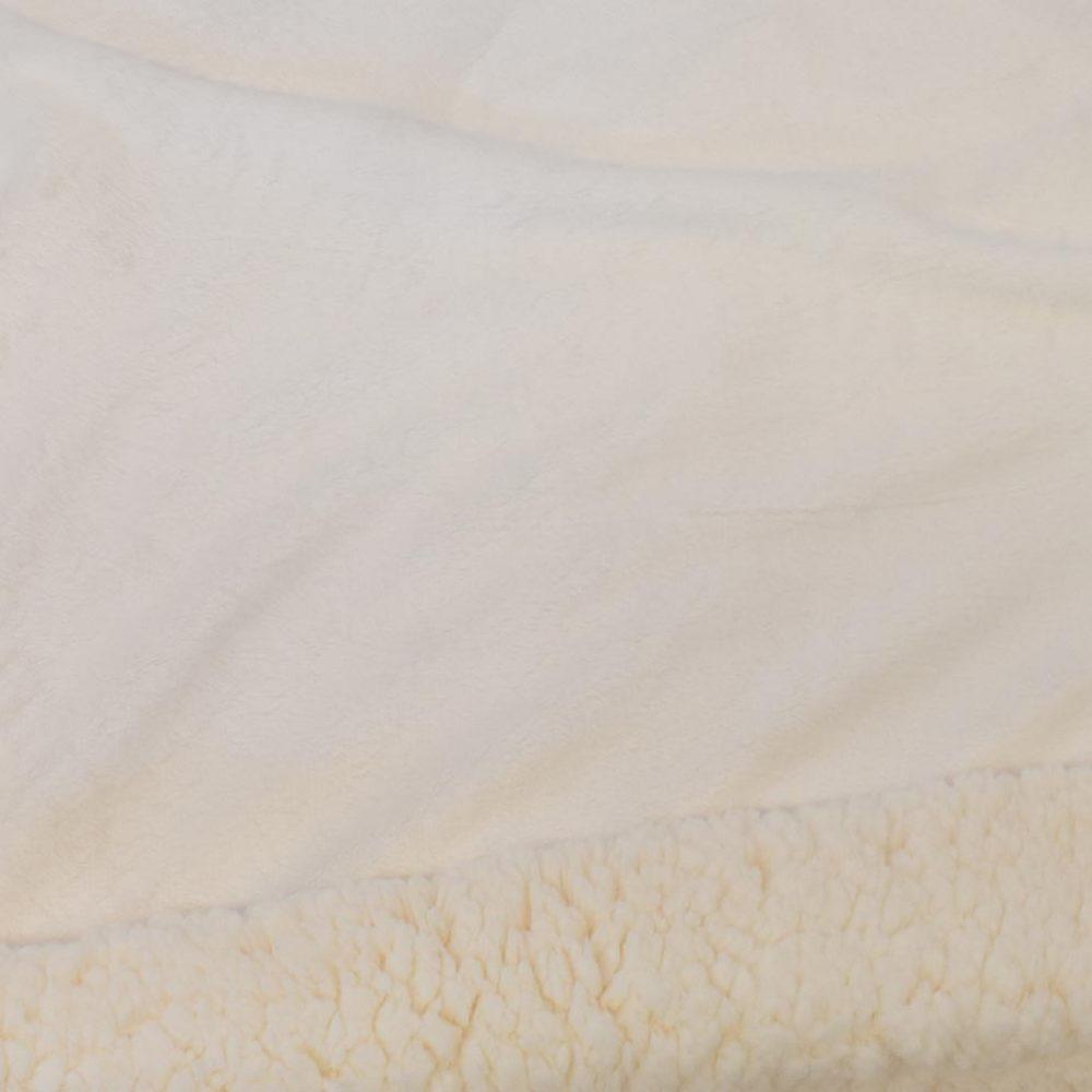 Sherpa Fleece Blanket: Cream