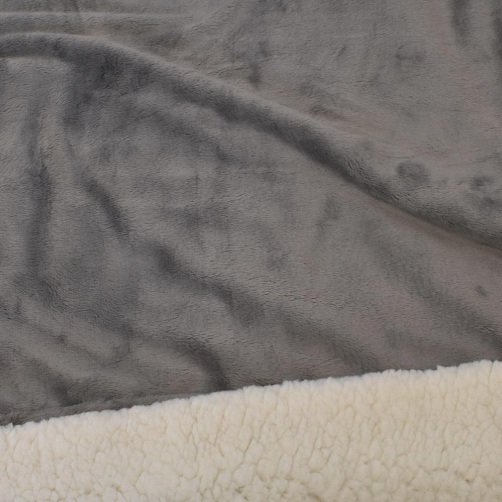 Sherpa Fleece Blanket: Cinder