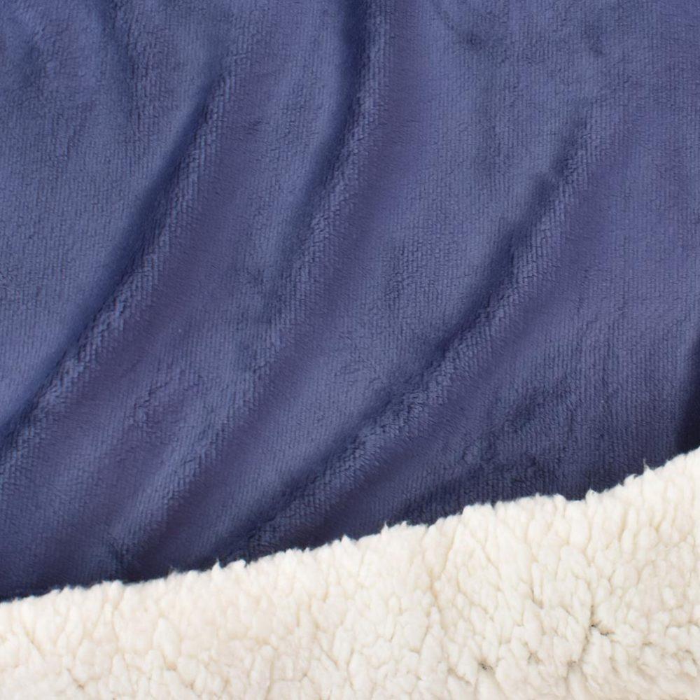 Sherpa Fleece Blanket: Navy