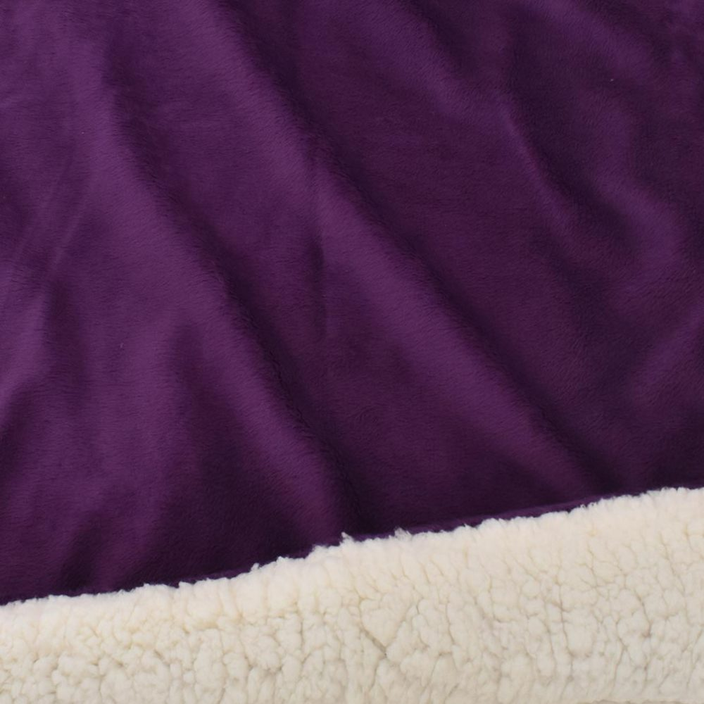 Sherpa Fleece Blanket: Plum