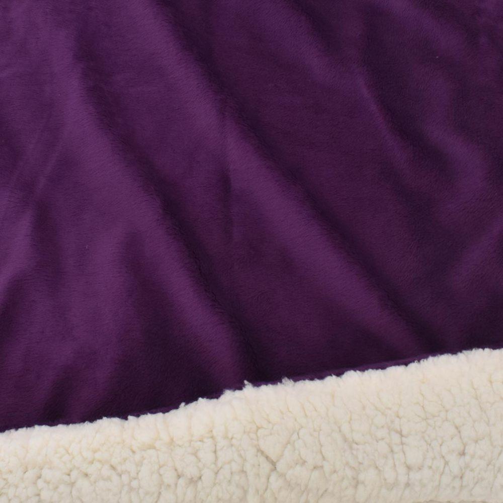 Sherpa Fleece Blanket: Plum
