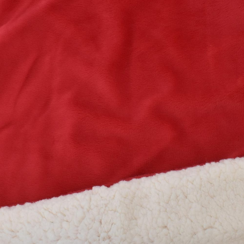 Sherpa Fleece Blanket: Red