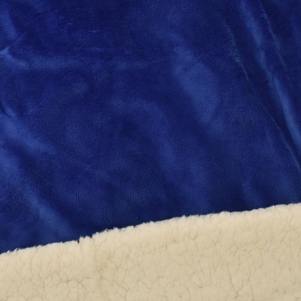 Sherpa Fleece Blanket: Royal