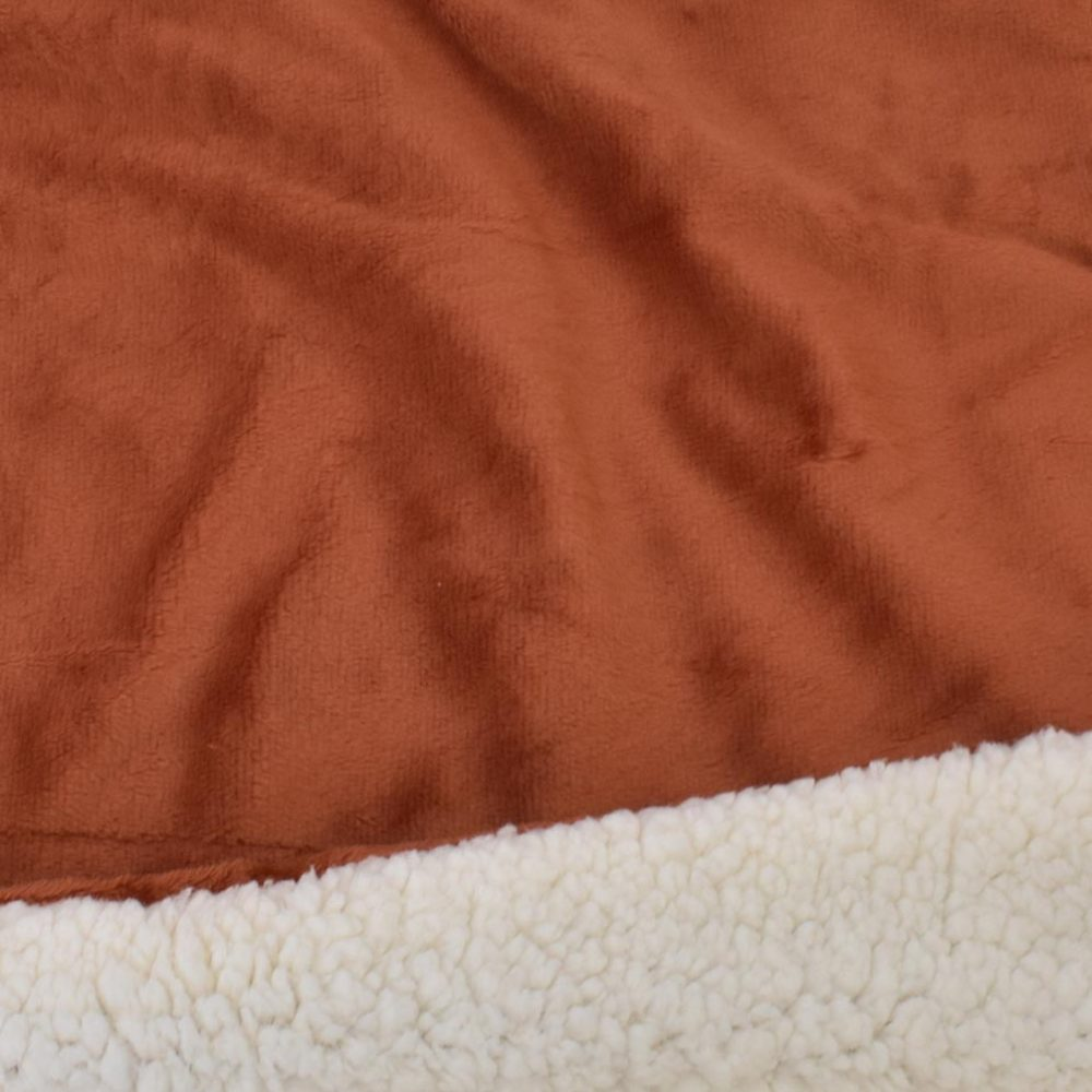 Sherpa Fleece Blanket: Sienna
