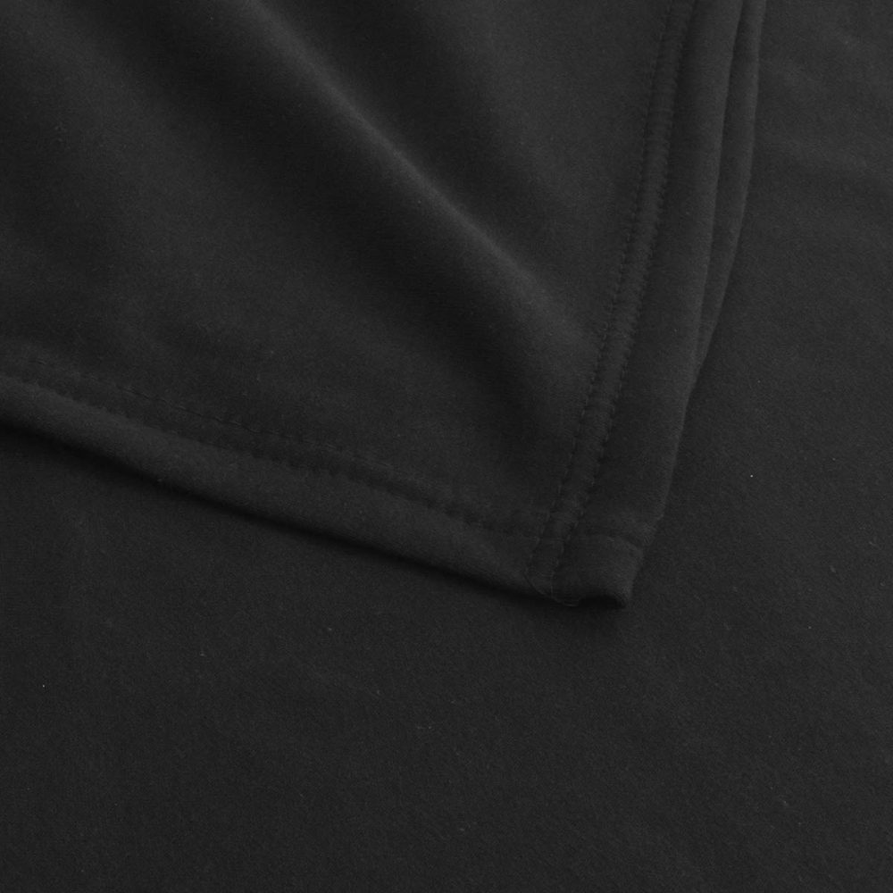 Sweatshirt Fleece Blanket: Black