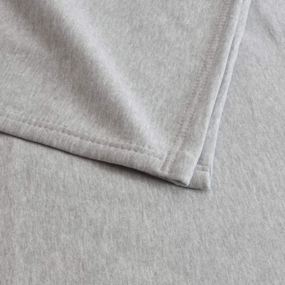 Sweatshirt Fleece Blanket: Heather Gray