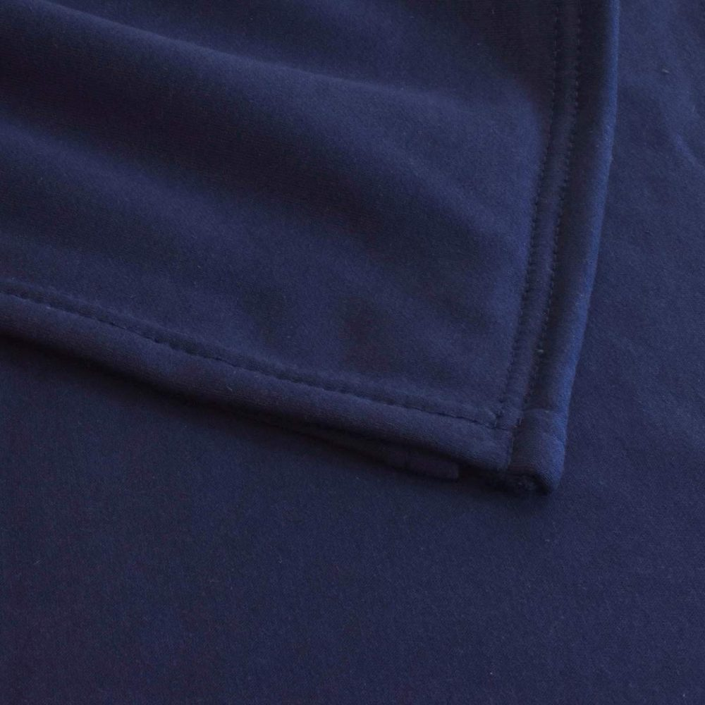 Sweatshirt Fleece Blanket: Navy