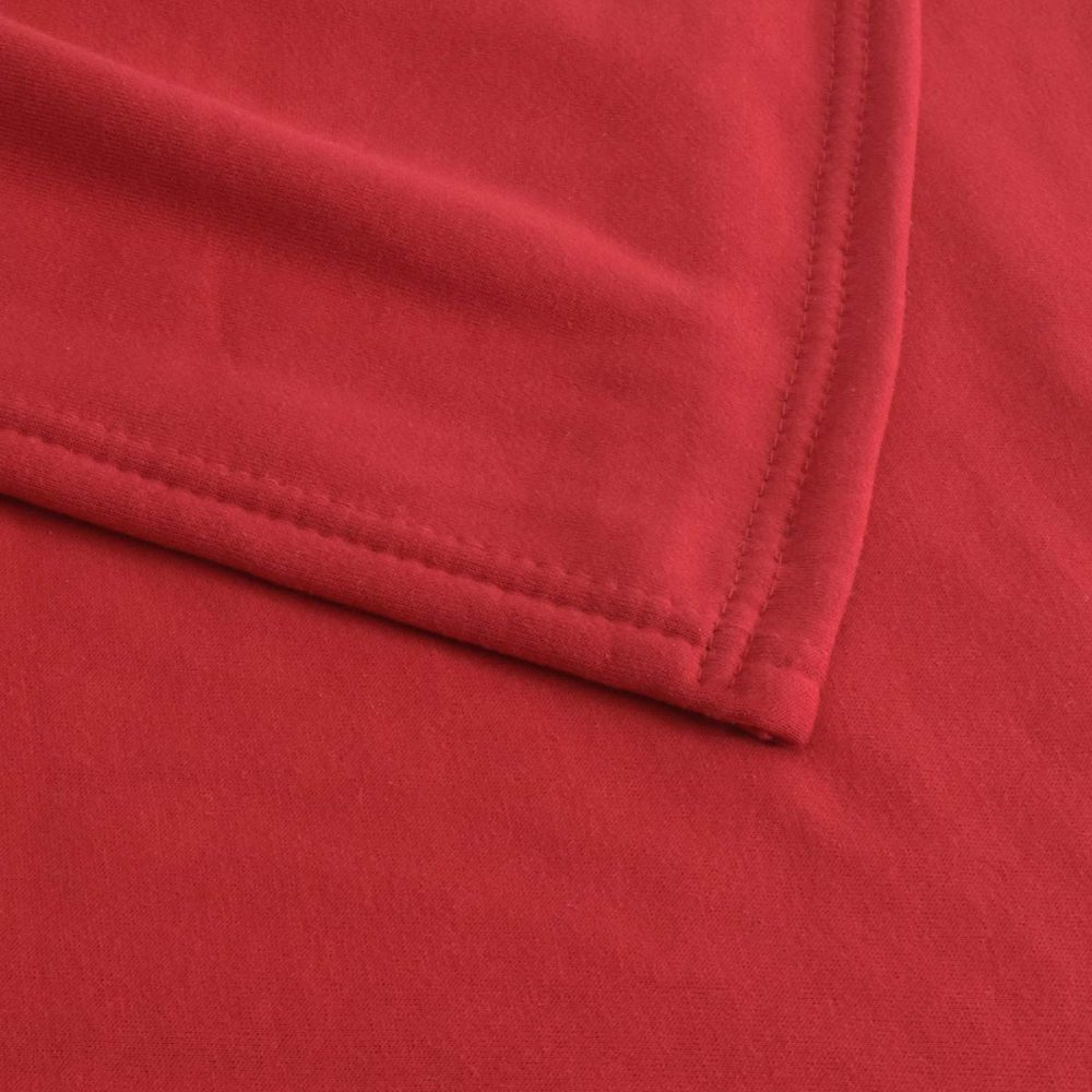 Sweatshirt Fleece Blanket: Red