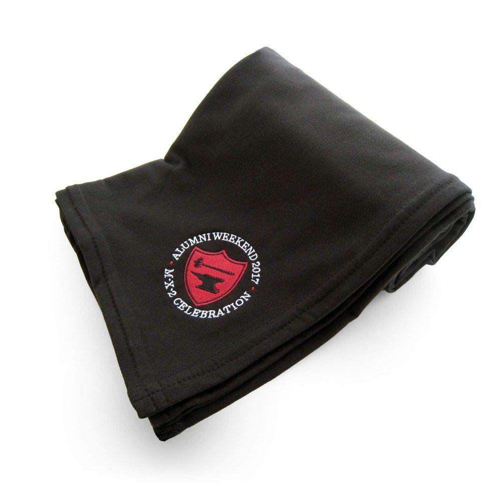 Sweatshirt fleece embroidered black