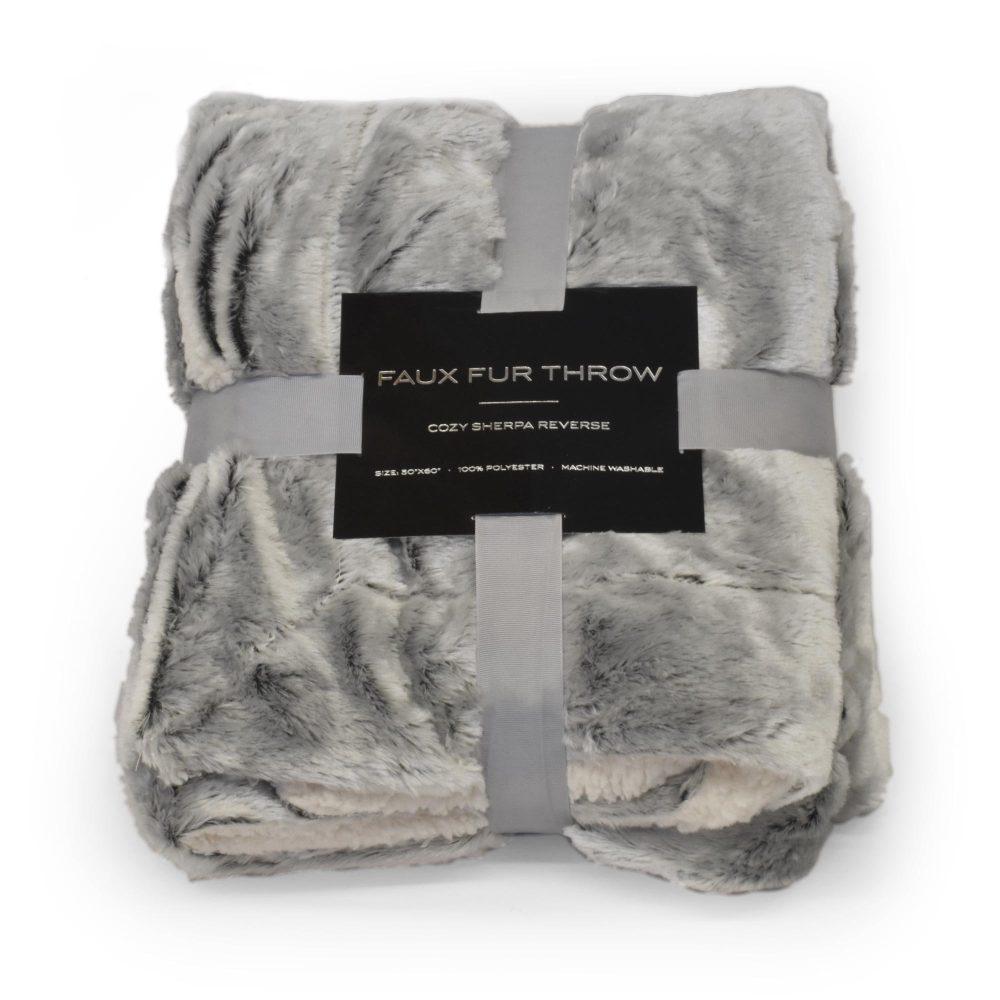 Sherpa Faux Fur Cinder