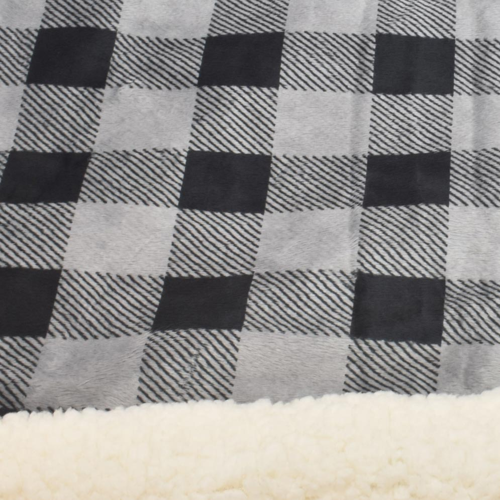 Sherpa Fleece Blanket: Black Buffalo